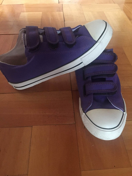 Zapatillas Violetas Cover Your Bones (converse)