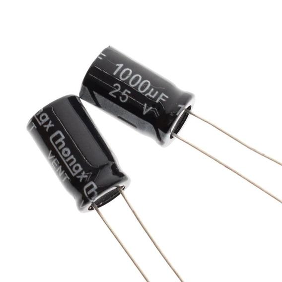 10x Capacitor Eletrolitico 1.000uf X 25v * 105ºc * 1000uf