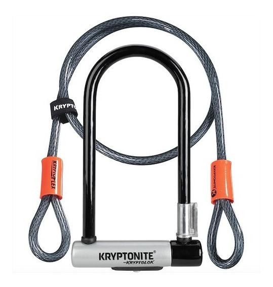 Candado Kryptonite New U Kryptolok Std C/cable Nivel 6 Gris