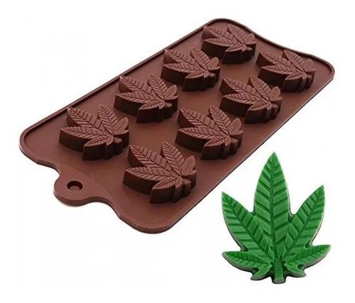 Molde De Silicona Choco Marihuana X8 Cavidades