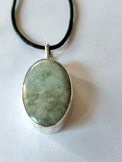 Jade Verde Traslùcido Con Plata Ley. 950