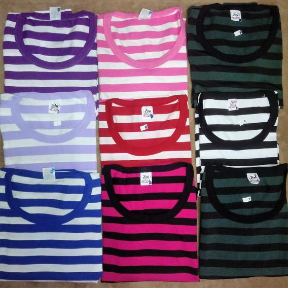 Kit 6 Camisetas Femininas Blusas Manga Longa Liquida Estoque