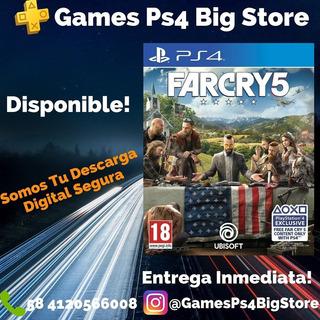 Far Cry 5 Digital Ps4 Primaria +plus14 Dias Gamesps4bigstore