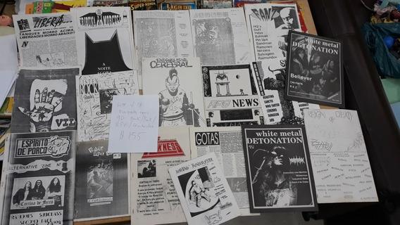 Fanzine Alternativos Anos 90 Lote Com 18 Exemplares