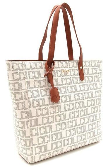 Bolsa Colcci Shopping Bag Pvc Logomania Branco