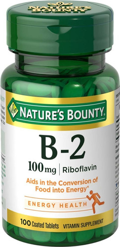 Natures Bounty Vitamina B-2 Sist Nervioso Saludable Pack 3