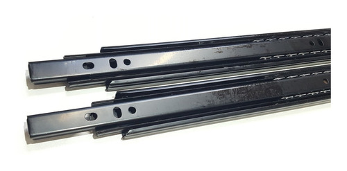 Imagen 1 de 4 de Corredera Telescopica 45cm 20kg Negra Guia Cajon  X 10 Pares