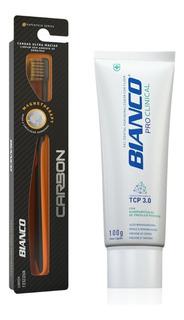 Escova De Dente Carbon + Creme Dental Pró Clinical