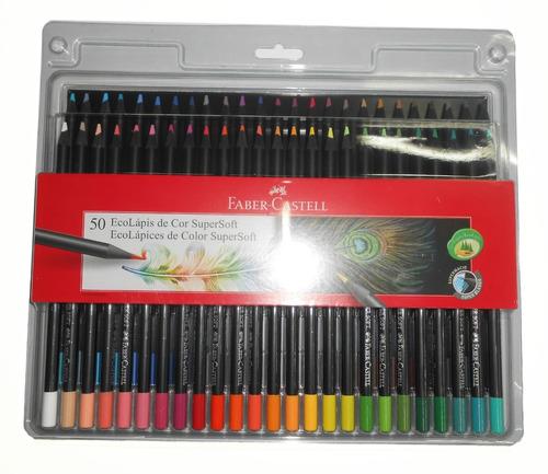 Imagen 1 de 5 de Lapices De Colores Eco Faber Castell Supersoft X 50 Unidades