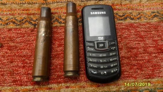 Lote 2 Antigua Vaina 12.7 Ametralladora Ideal Cabo Cuchillo