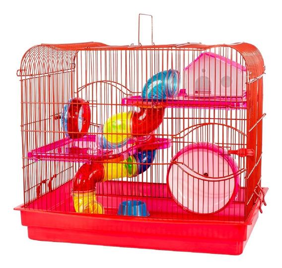 Gaiola Para Hamster Prime Super Luxo Com Andar Acrílico