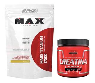 Combo Mass 17.500 3kg Max Titanium + Creatina 300g Integral