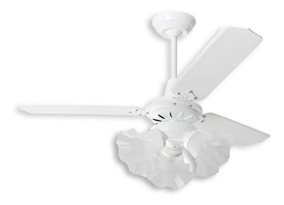 Ventilador De Teto Loren Sid Diplomata Diamante Branco 110v