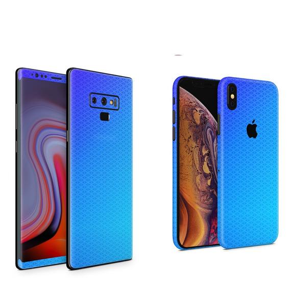 Skin Blue Triangles Apple Samsung Huawei Lg Sony Xiaomi Etc