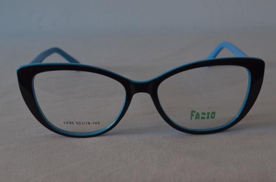 Armazon Anteojo Moda Tendencia Gafas Gatubelo Color Mujer