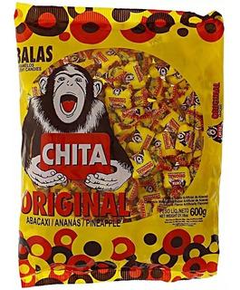 Bala Chita Atacado Sabor Abacaxi 600g Kit Doces Para Festas