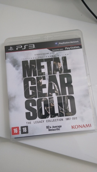 Jogo Metal Gear Solid The Legacy Collection 1987-2012 Ps3