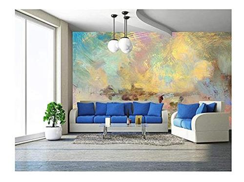 Imagen 1 de 3 de Mural Diseño De Pintura Al Óleo 100''x144'' Obra De Arte 10