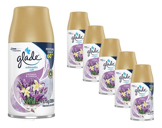 Kit 6 Glade Automatic Lavanda & Vanilla Refil 269ml Perfume