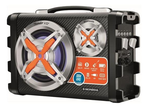 Caixa De Som Bluetooth Portátil Com Bateria Pendrive Fm 80w