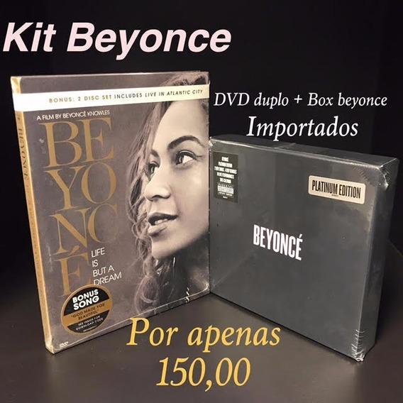 Kit Beyonce Dvd Duplo + Box C 2cds+2dvds Importado Lacrado