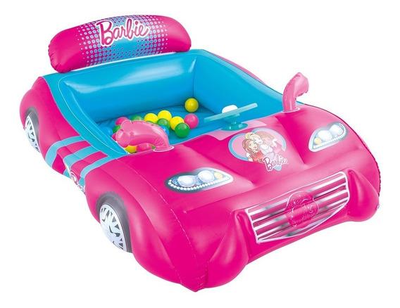 Pelotero Inflable Barbie Coche Bestway Barbie Con Pelotitas