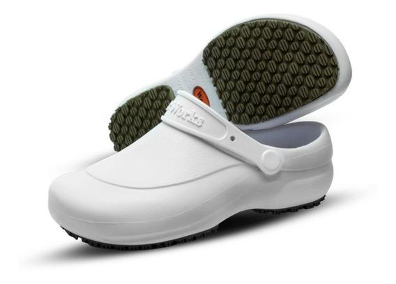 Sapato Chef De Cozinha Enfermagem Medicina - Branco