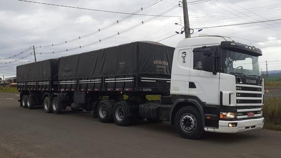 Conjunto Scania G 124/420 + Bitrem Graneleiro Guerra 2010