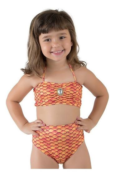 Cauda De Sereia Infantil +biquini Sem Nadadeira Atacado