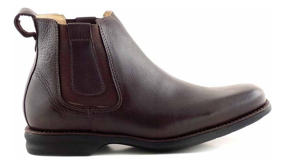 Bota Confort Hombre Anatomico Cuero Zapato Ancho - Hcbo00909