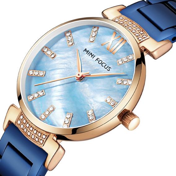 Design Simples Aço Inoxidável Moda Mulheres Relógio De Pulso