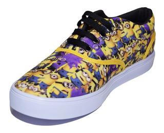 Tenis Zapato Juvenil D Minions Talla 24, 25 Y 26