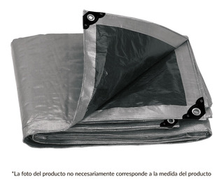Lona Reforzada, Uso Rudo 4 X 6 M, Gris Proteccion Uv