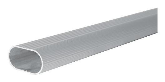 Tubo Ovalado Para Clóset 3m Acabado Aluminio Lock
