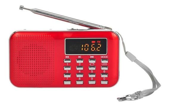 Y -896 Mini Fm Rádio Digital Portátil 3w Estéreo Alto-falant