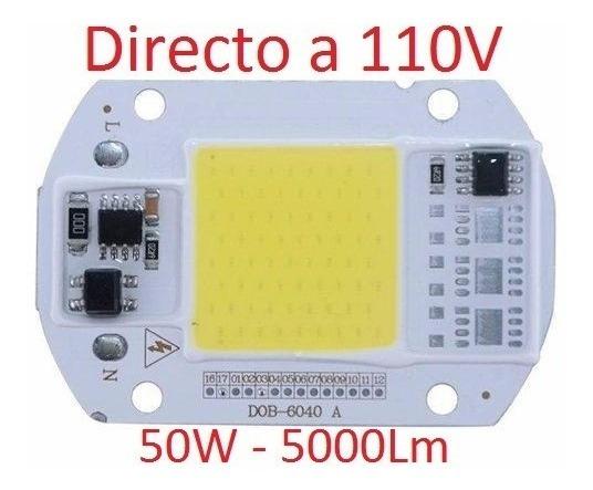 Led 50w Chip Directo 110v Faro Reflector + Pasta Térmica