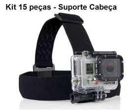 Kit 15 Suportes Cabeça Gopro Acessorio Gopro 2/3/3+ 4 5 Head