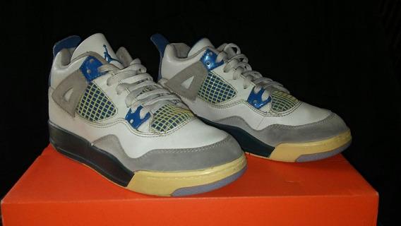 Nike Air Jordan Iv Blue Talla Niño 1y 20cm