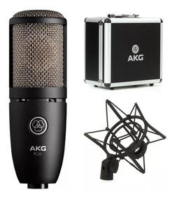 Microfone Condensador Akg P220 Profissional P/ Estúdio