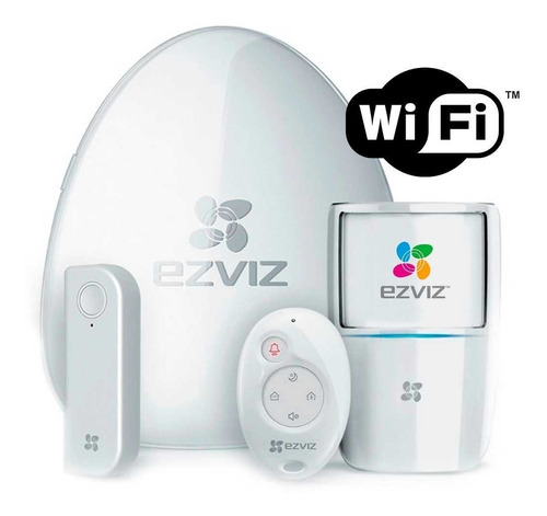 Imagen 1 de 2 de Alarma Kit Wifi  Ezviz By Hikvision + Sirena Ofertasgmp