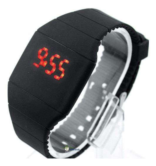 Relógio Masculino Digital Led Touch Silicone Promoção Barato