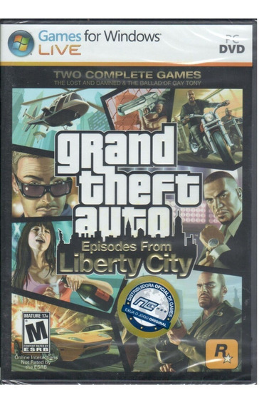 Gta Episodes From Liberty City Jogo Pc Mídia Física Original