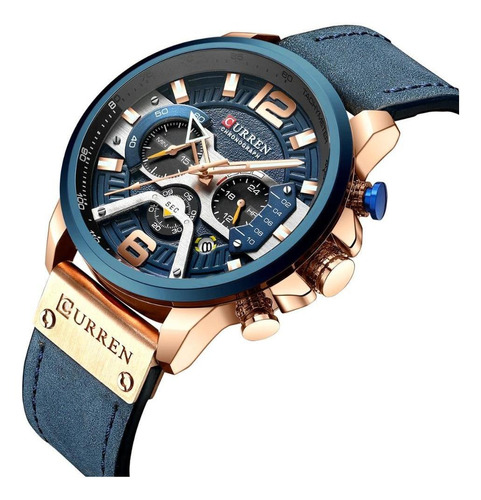 Relógio Masculino Curren 8329 Pulseira De Couro Promo