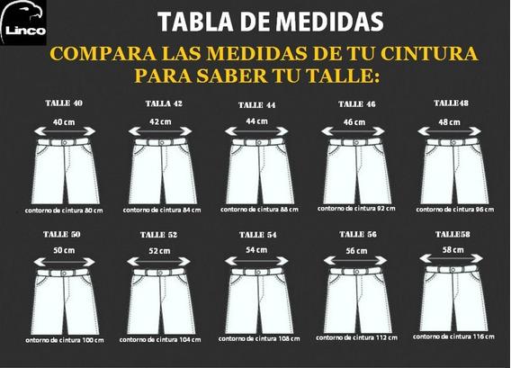 4 Pantalon Cargo Reforzado Linco El Mejor Del Mercadot.38-48