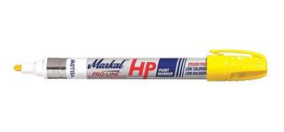 Marcador Amarillo Markal Pro-line Hp Para Metal Y Llantas