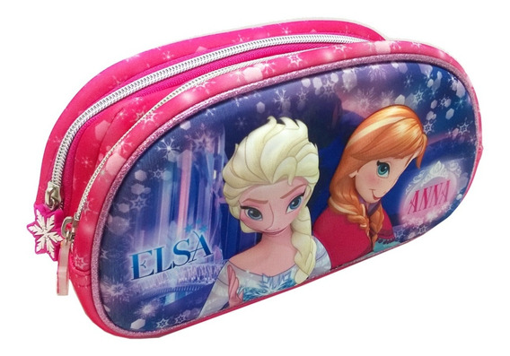Cartuchera 2 Cierres 3d Disney Frozen Elsa Mundomanias