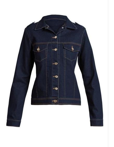 Jaqueta Jeans Escuro Jovem Social Plus Size