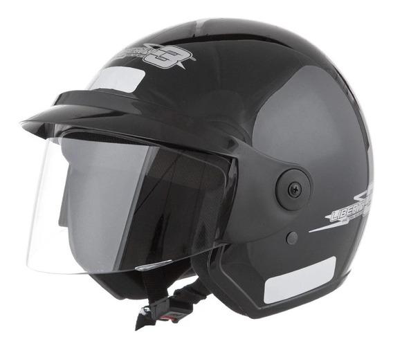 Capacete para moto aberto Pro Tork Liberty Three preto tamanho 58