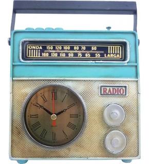 Reloj Analogico Radio Antigua Con Pie De Apoyo