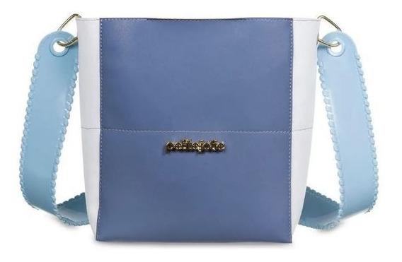 Bolsa Keen Petite Jolie Azul Pj4280 Nova Coleção